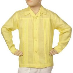 Boy's Irish Linen Yellow Shirt