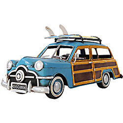 1949 Ford Woody Wagon Model Car with Two Surfboards
