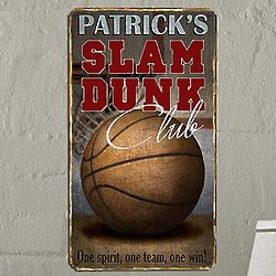 Personalized Slam Dunk Metal Sign