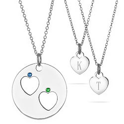 Birthstone Pendant Set for Mother and 2 Daughters