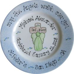 To Celebrate Your Baptism Hand Painted Plate