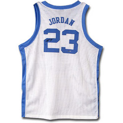 Michael Jordan North Carolina Tar Heels Autographed White Jersey