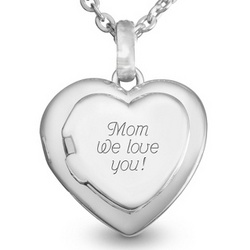 Sterling Silver Family Heart Locket