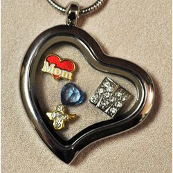 Loss of Mother Heart Locket with Charms