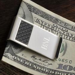 Personalized Carbon Fiber Money Clip