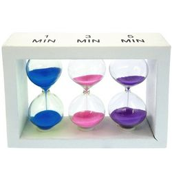 3 in 1 White Wood Sand Timer