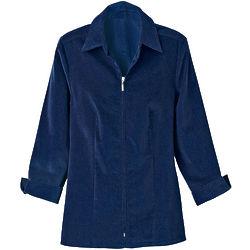 Corduroy Zip-Front Shirt