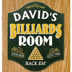 Billiards Personalized Sign