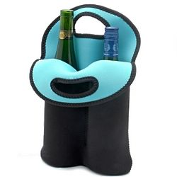 Double the Bottles Neoprene Insulated Wine Bag