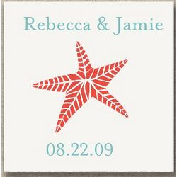 Personalized Starfish Wedding Favor Tags