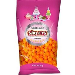 Orange Celebration Sixlets Candies