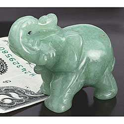 Hand-Carved Jade Elephant