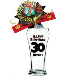 Personalized 30th Birthday Pilsner Glass