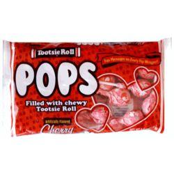 Cherry Valentine Tootsie Roll Pops