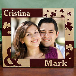 Personalized Just the Two of Us 8x10 Irish Wood Picture Frame