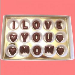 I Love You Mom Large Alphabet Milk Chocolate Gift Box