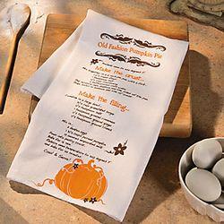 Fall Recipe Kitchen Towel