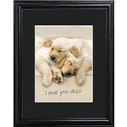 Puppy Love Personalized Framed Print