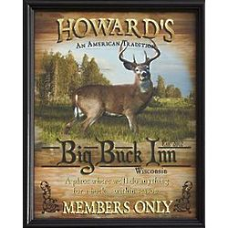 Personalized Framed Big Buck Inn Canvas