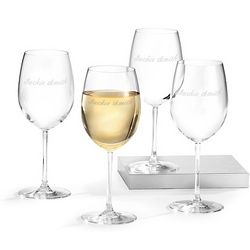 Wine Glass Set with Custom Names Engraved