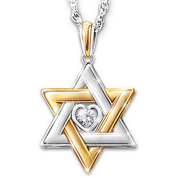 Women's Star of David Personalized Diamond Necklace