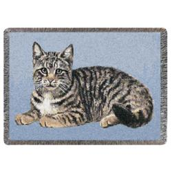 Personalized Tabby Cat Throw