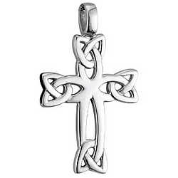 Trinity Knot Cross with Chain