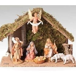 7 Piece Nativity Set with Italian Stable