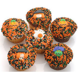 "6 Pack of Halloween Gourmet ""Devil Style"" Cupcakes"