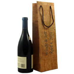 Natural Cork Leather Wine Bag