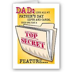 Father's Day Secret Feature Greeting Card