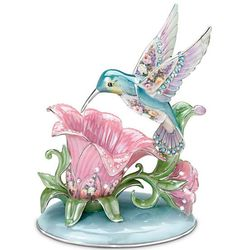 Porcelain Hummingbird Accent Lamp