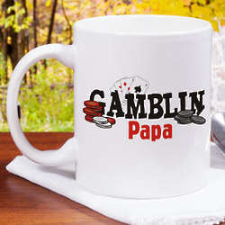 Personalized Gambling Coffee Mug