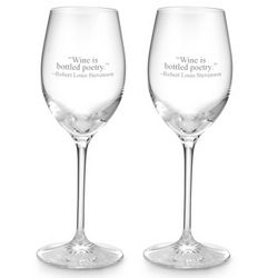 Waterford Clear Light White Wine Glasses
