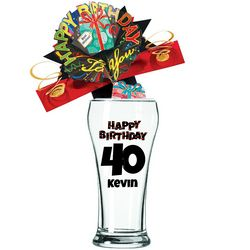 Personalized 40th Birthday Pilsner Glass
