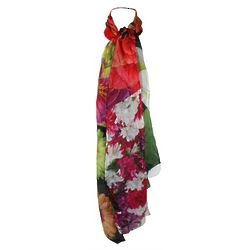 Silk Hand Painted Floral Scarf