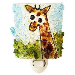 Recycled Glass Giraffe Night Light