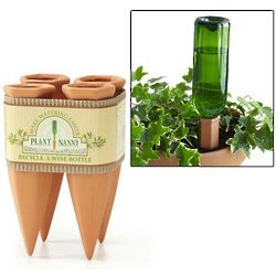 Recycle a Wine Bottle Plant Nanny Stakes