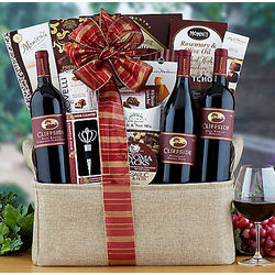 Cliffside Red Wine Trio Gift Basket