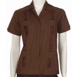 Women's Embroidered Guayabera Shirt