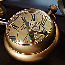 Antique Style Paperweight Clock
