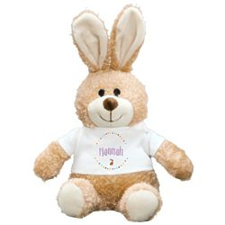 """Personalized Easter Bunny 10"""" Stuffed Animal"""