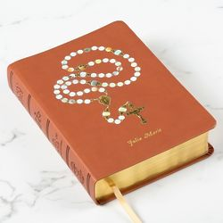 Personalized Rosary Cover NAB-RE Bible