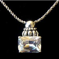 Emerald Cut Cubic Zirconia Necklace