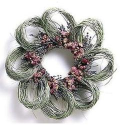 Bear Grass, Lavendar and Wild Roses Wreath