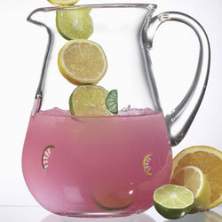 Citrus Slices Glass Pitcher