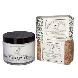 Goat Milk Soap and Creme Gift Set