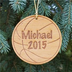 Personalized Basketball Fan Christmas Ornament