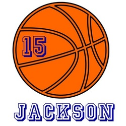 Personalized Basketball Name T-Shirt
