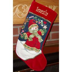 Personalized Juggling Snowman Christmas Stocking